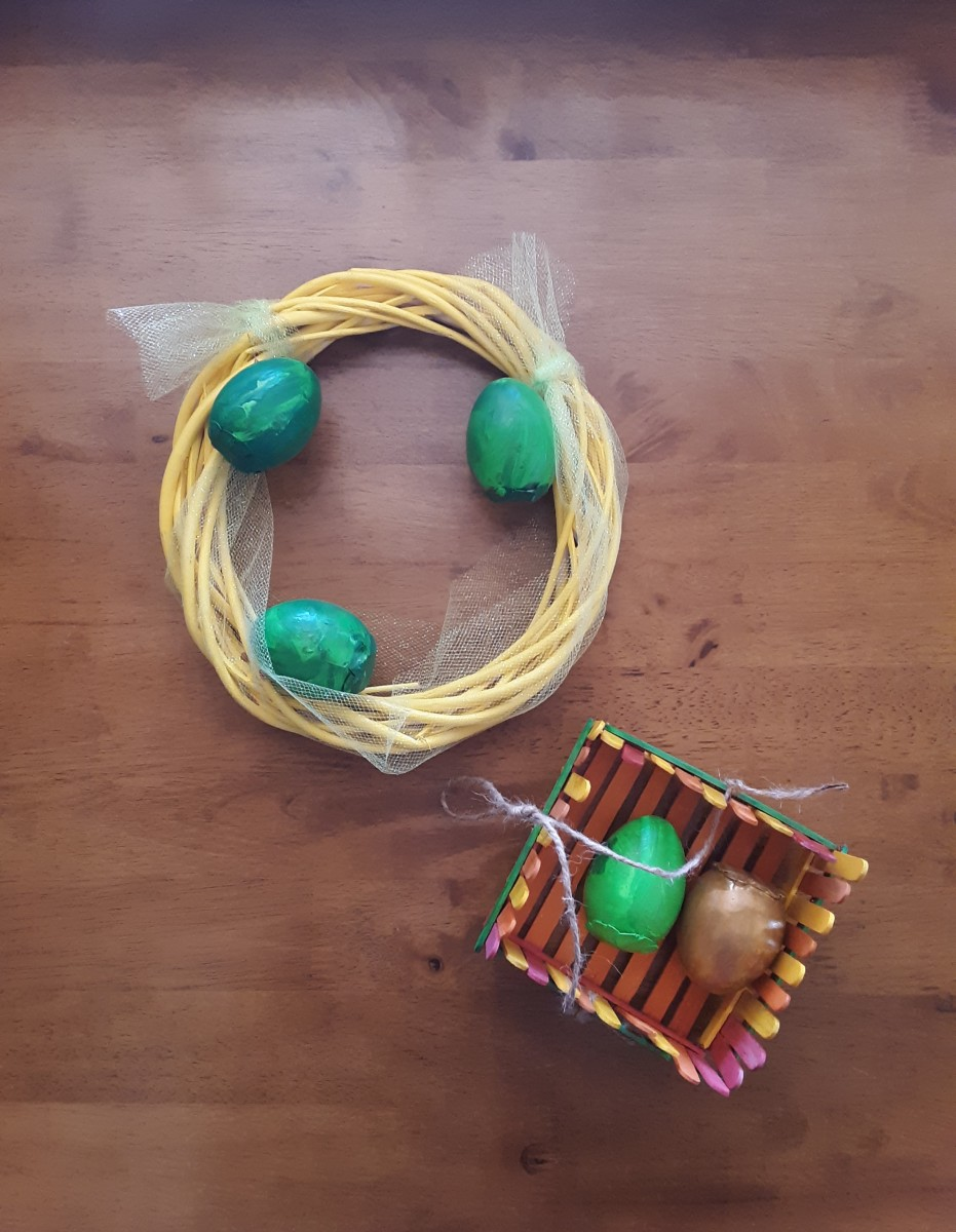 3 Fun and Simple DIY Easter Crafts: Eggs, Baskets, and Wreaths