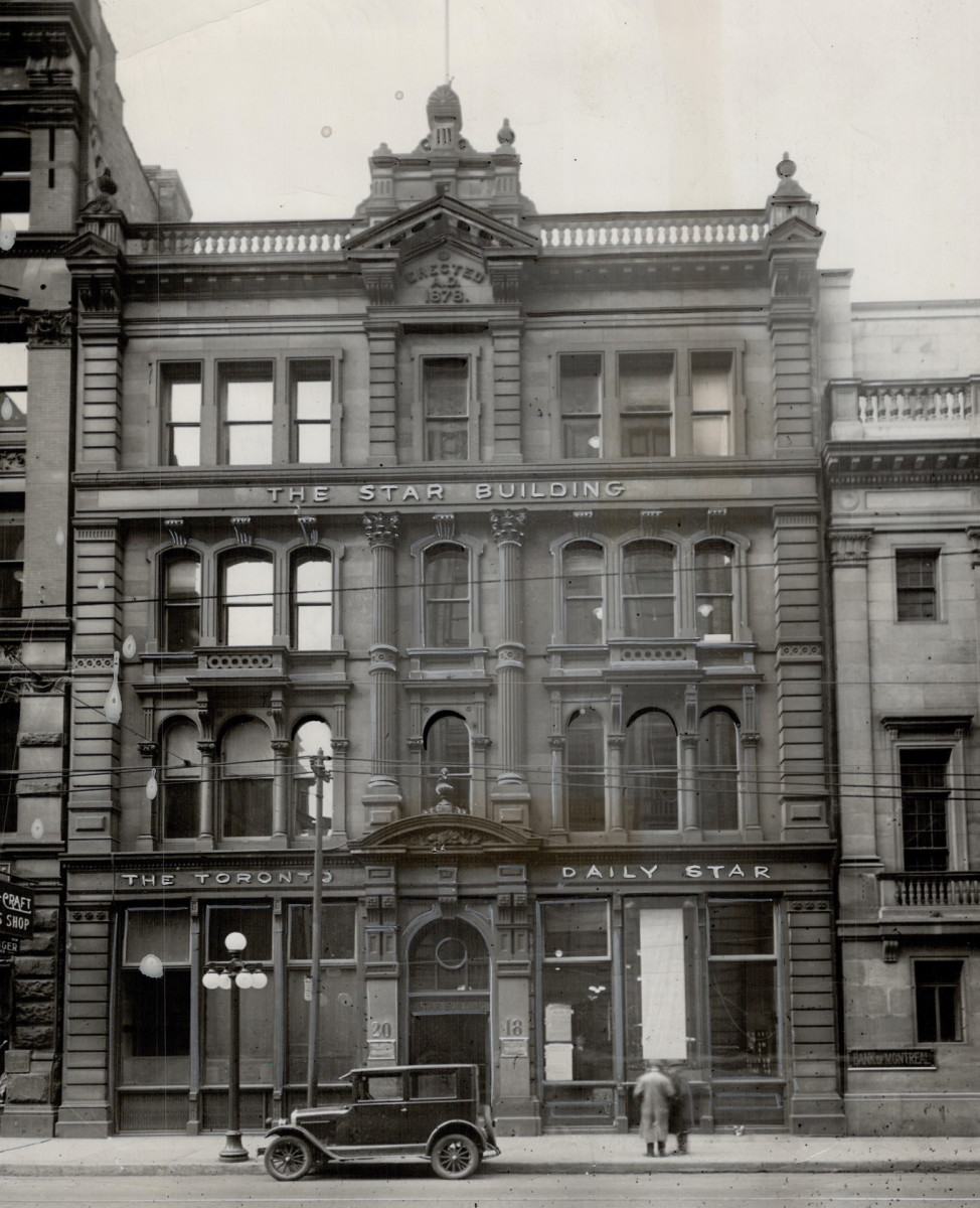 The old Toronto Star building where Ernest Hemingway worked as a reporter in the early 1920s.