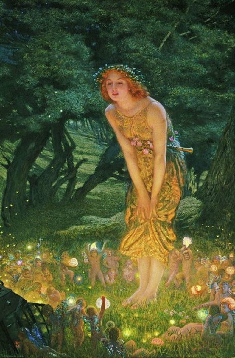 Midsummer Eve Fairies by Edward Robert Hughes