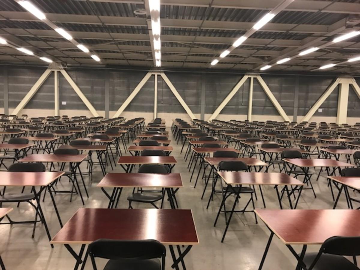 An exam room at an extern place.