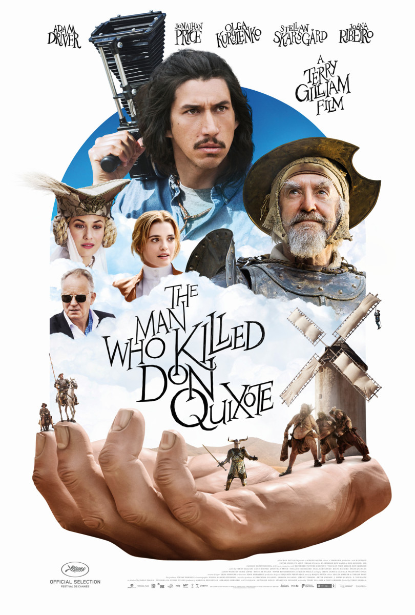 "The US poster for Terry Gilliam's, ""The Man Who Killed Don Quixote."""