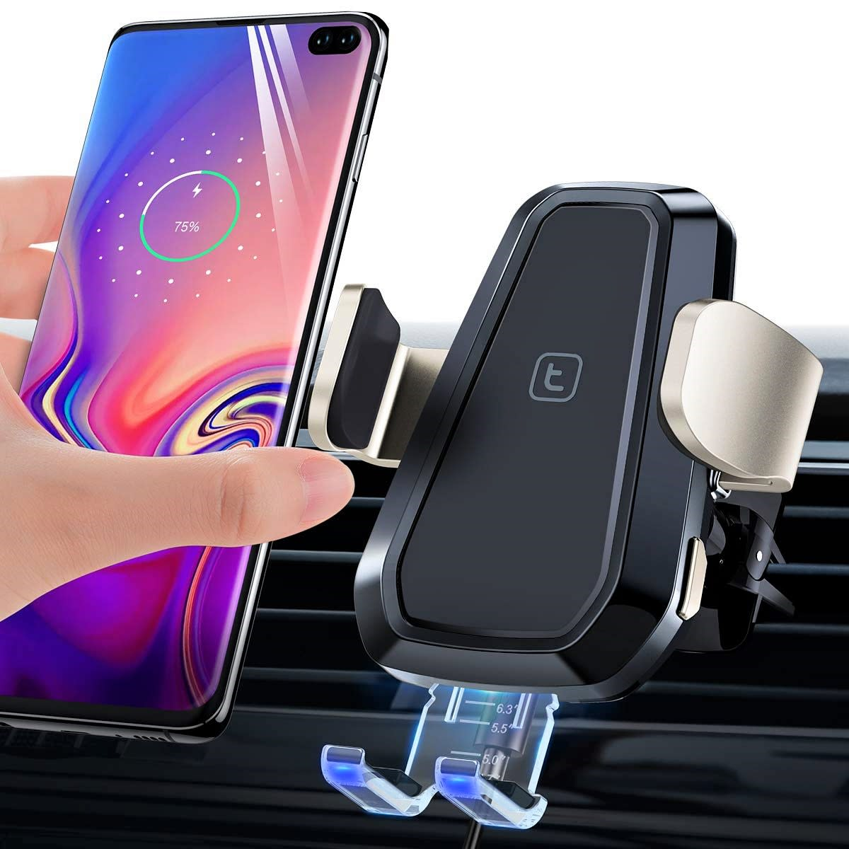 Torras Automatic Car Mount Wireless Charger