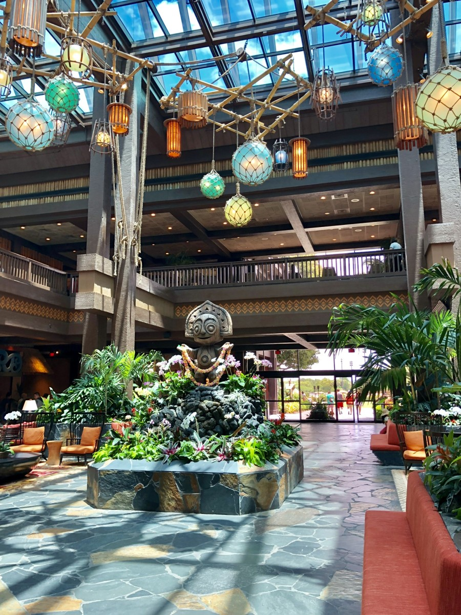 Lobby of Polynesian Resort