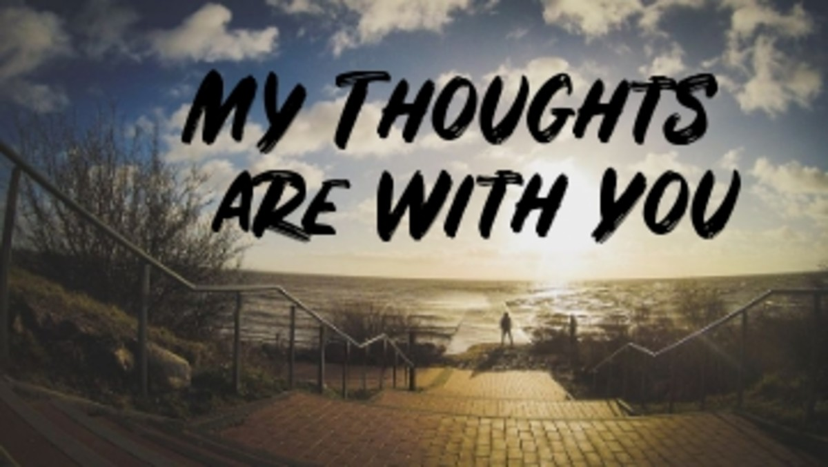 Poem:  My Thoughts are With You