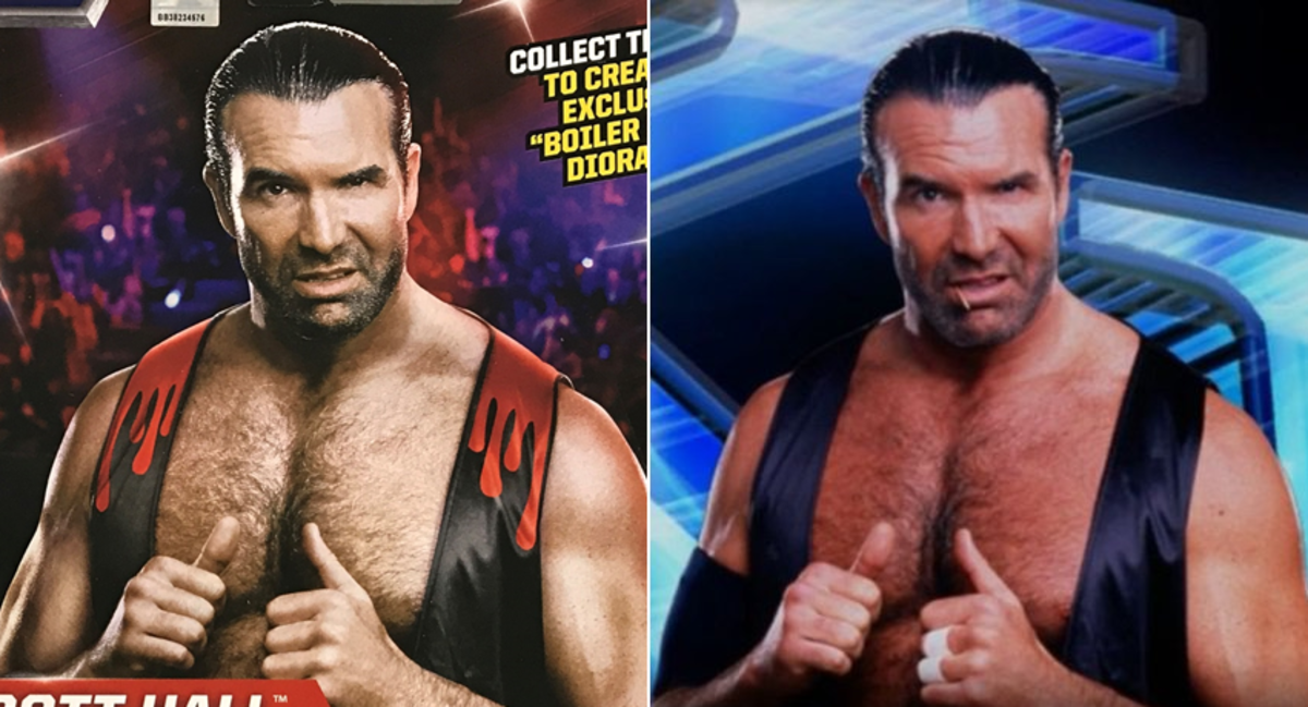 Scott Hall, WWE,WCW pro wrestler used his toothpick to give him a rough image.