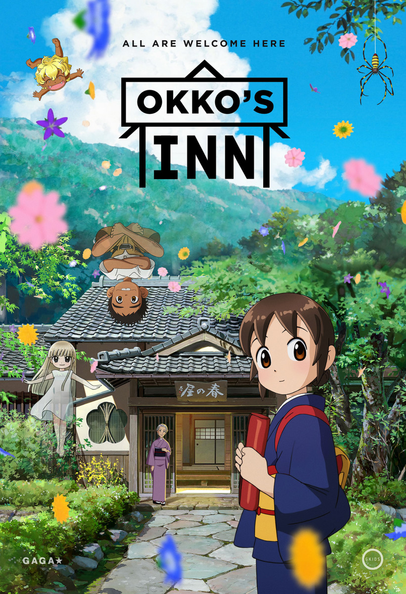 "The official theatrical poster for, ""Okko's Inn."""