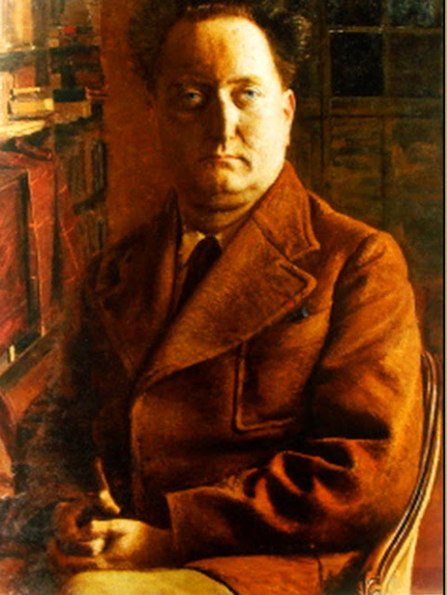Portrait of French Provençal Writer Jean Giono by Eugene Martel circa 1937