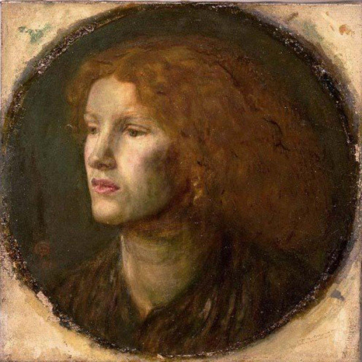 Pre-Raphaelite Art Model Fanny Cornforth circa 1862