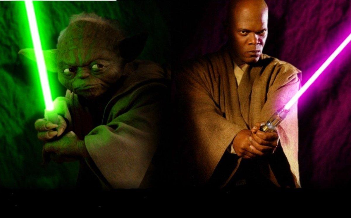 Yoda and Mace Windu in Star Wars