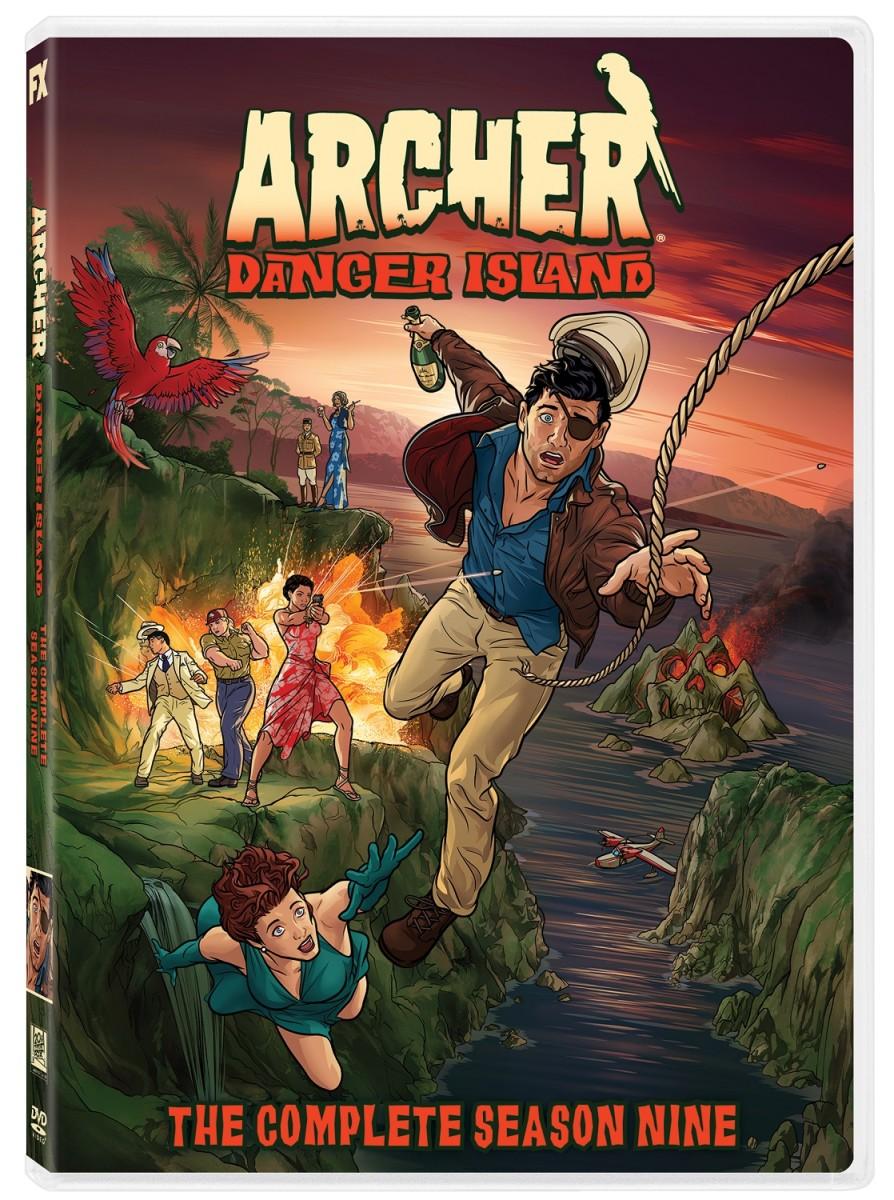 "The official box art for, ""Archer: Danger Island Season 9."""
