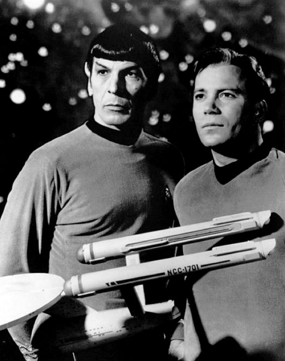 Giant Kirk and Spock or very small USS Enterprise?