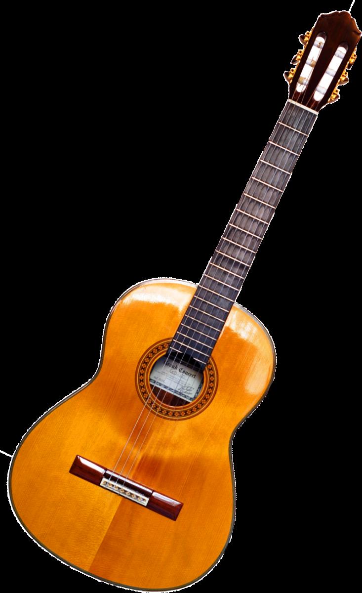A classical guitar.
