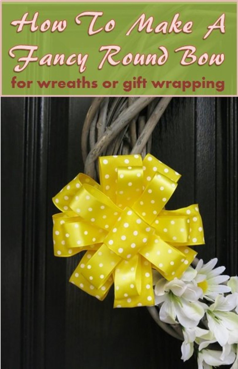 How to Make a Fancy Round Bow for Wreaths or Gift Wrapping