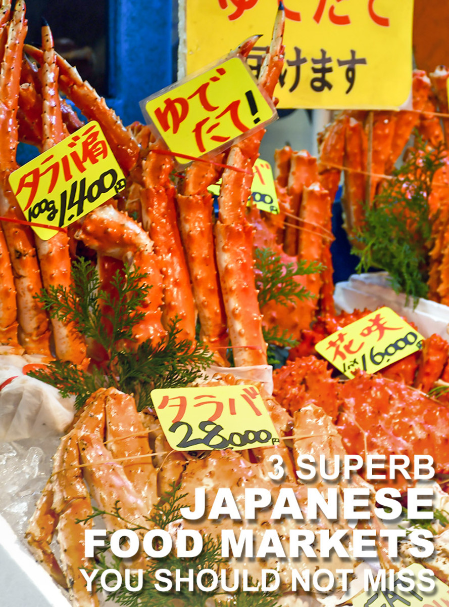 3 Japanese food markets that should be on your travel itinerary.