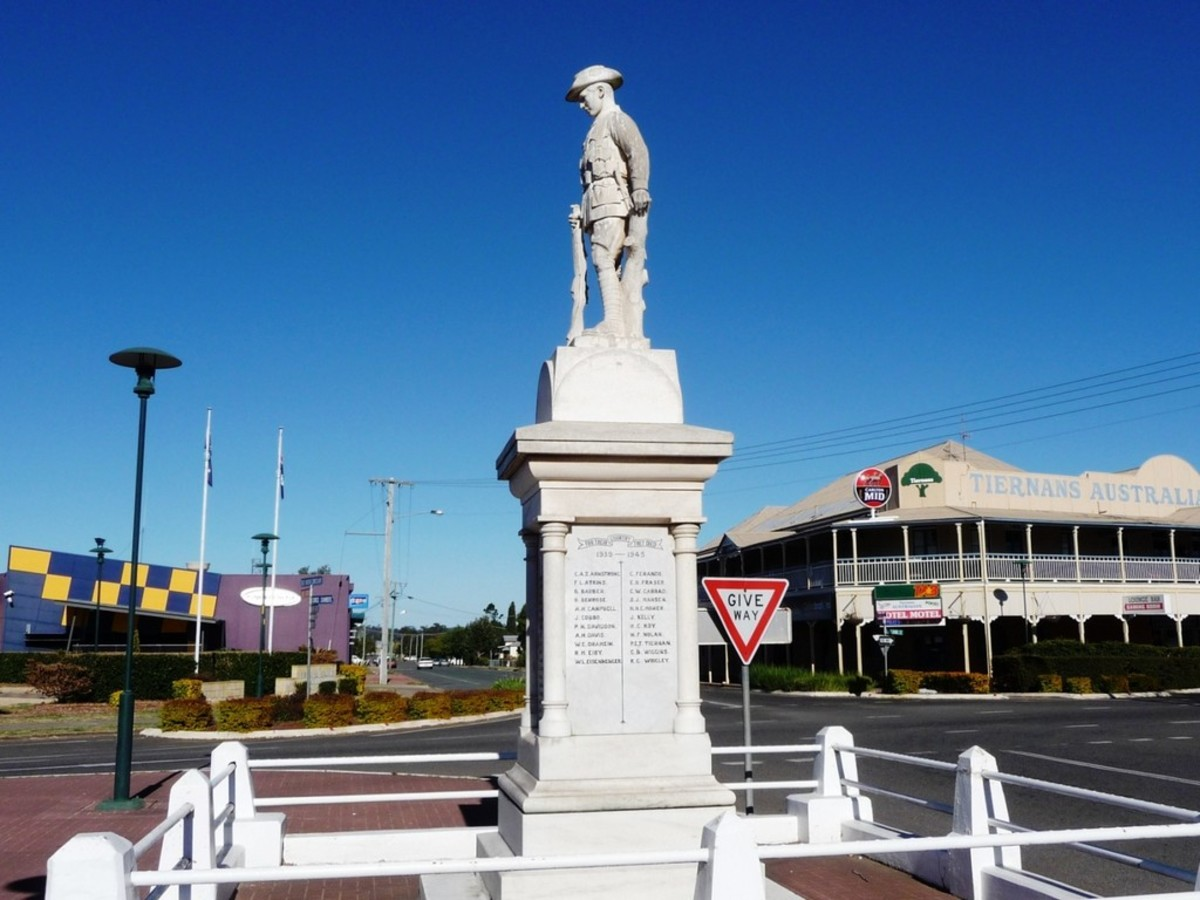 ANZAC War Memorial, Murgon QLD, Australia