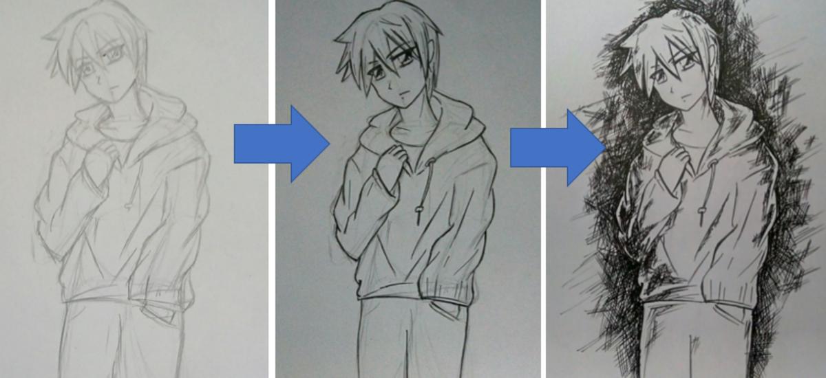 How to Draw an Anime Boy (Shounen)