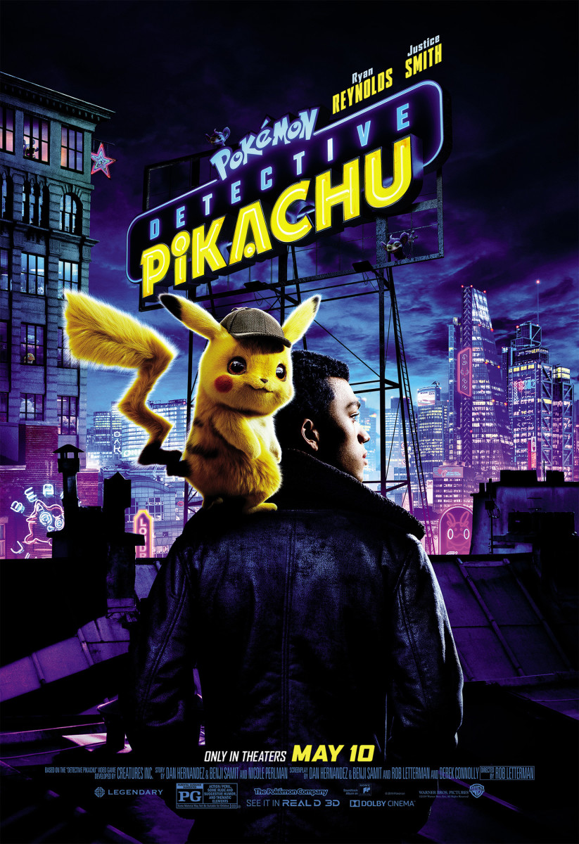 "One of many official theatrical posters for, "" Pokémon: Detective Pikachu."""