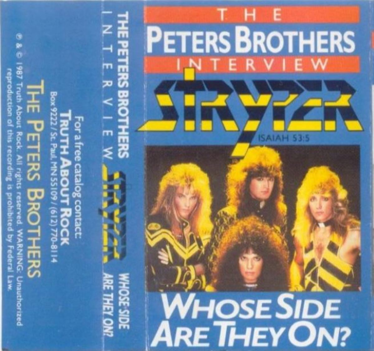"""The Peters Brothers Interview Stryper: Whose Side Are They On?"" Review"