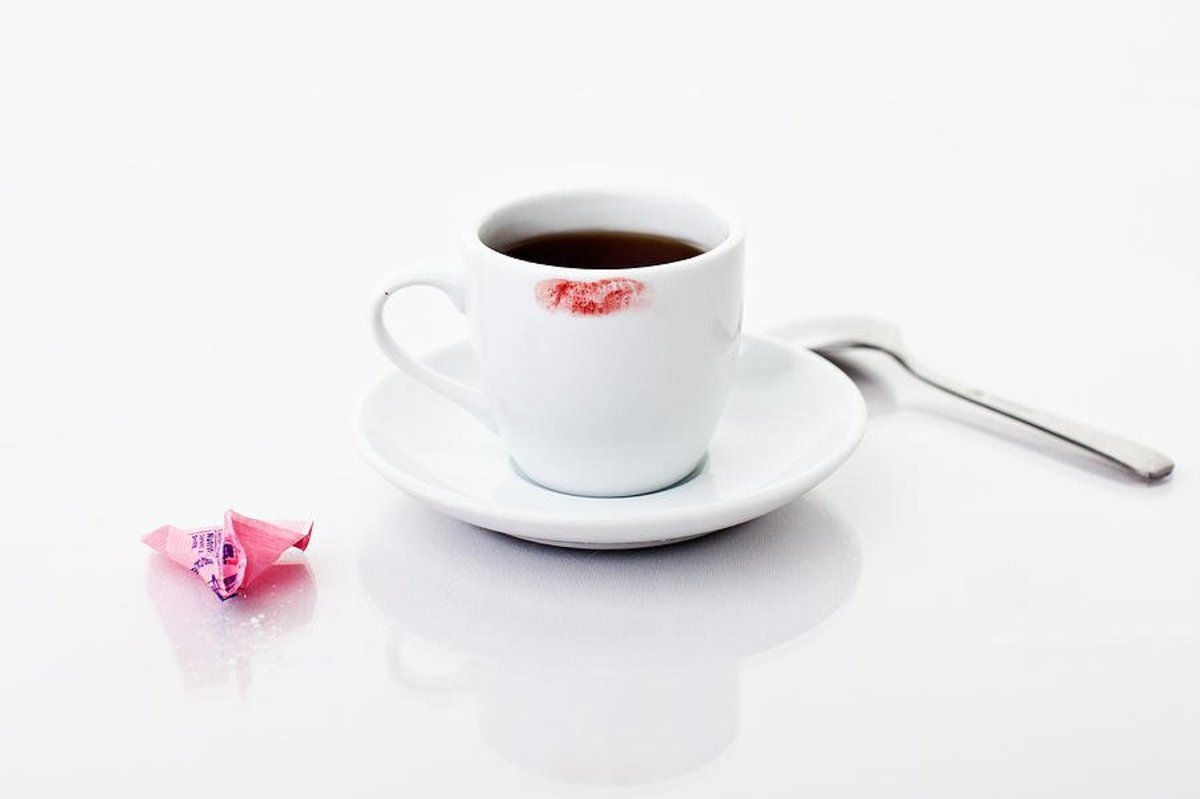 Lipstick Stains on the Coffee Mug - a Love Poem