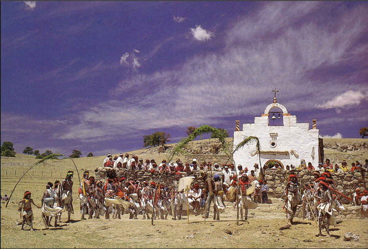 The Tarahumara Semana Santa celebration involves several days of drumming and dancing.