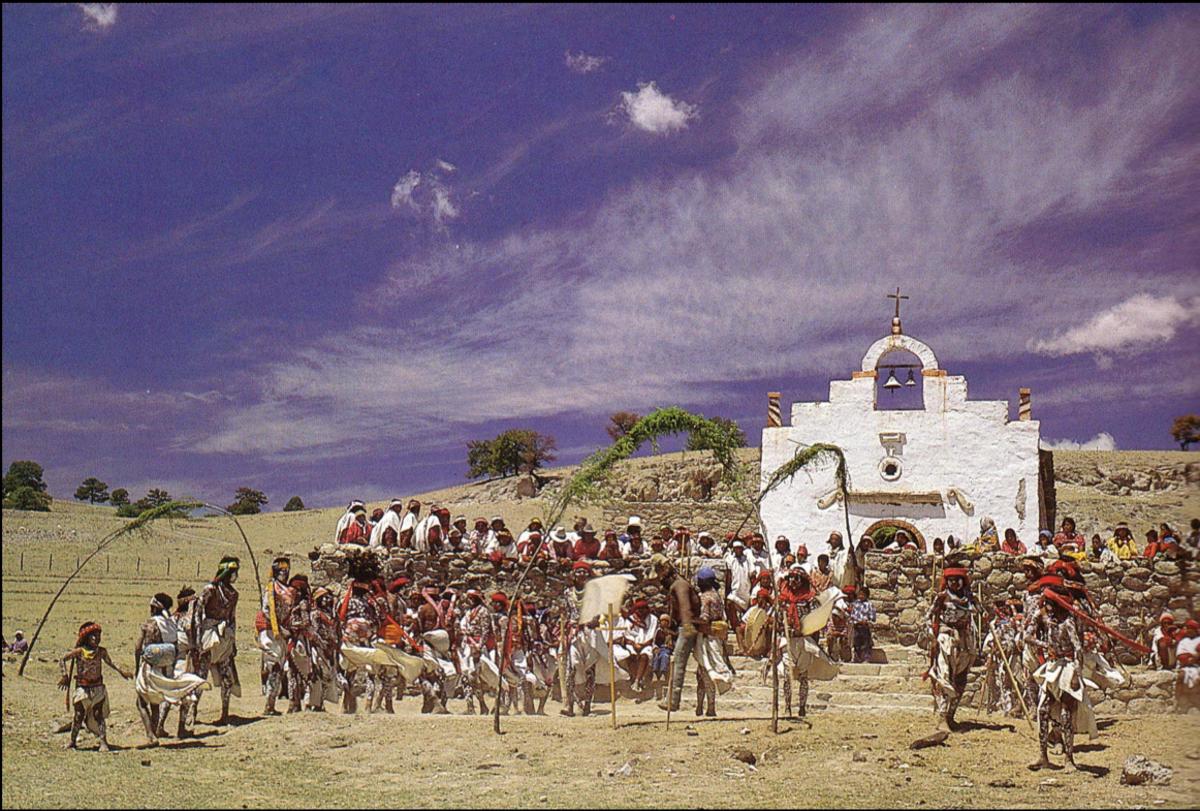 The Tarahumara Semana Santa celebration involves several days of drumming and dancing.