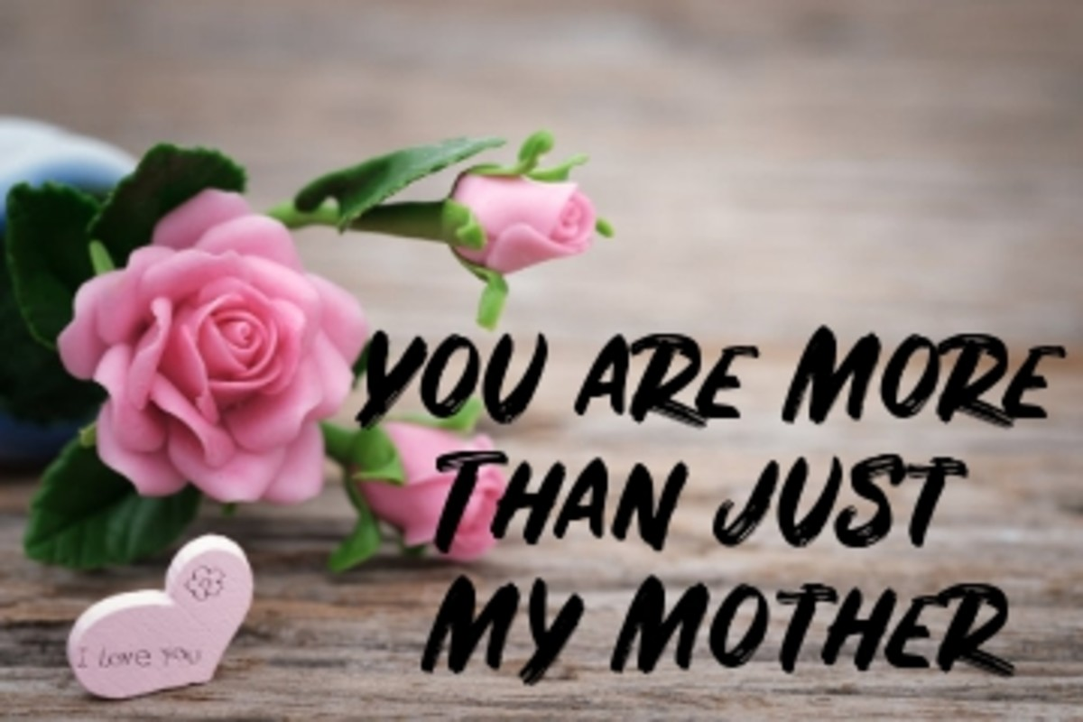 Poem:  You are More than just My Mother