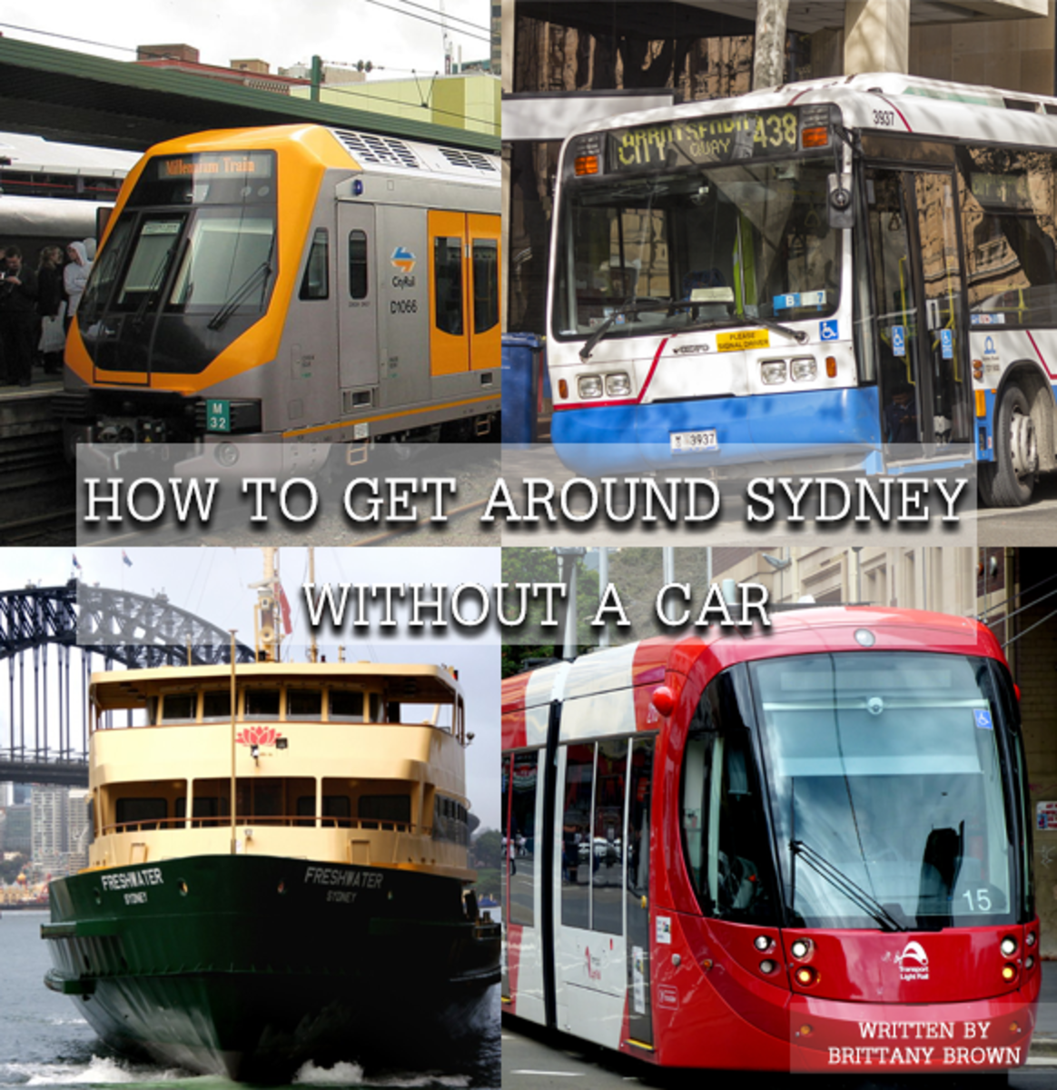 How to get around Sydney without a car, using train, bus, light rail, ferries, and Uber!