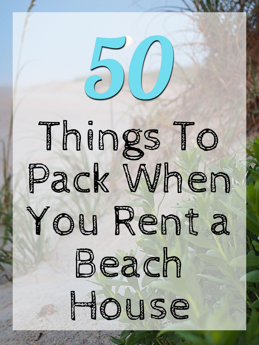 Renting a beach house?  Not sure what to bring?  This list of things to pack has you covered.