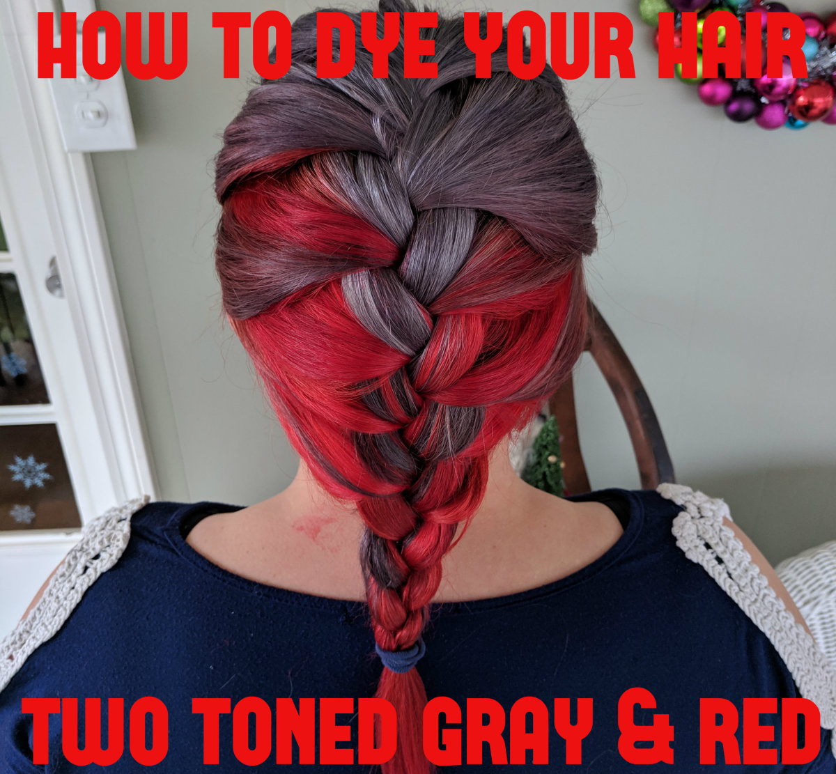 How to Dye Your Hair Two-Toned Gray and Red: Review of Ion Color Brilliance Titanium and Manic Panic Wildfire