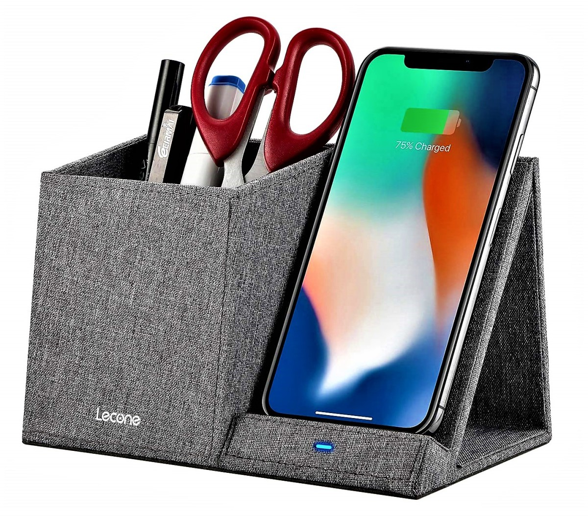 Lecone Wireless Charger With Desk Organizer