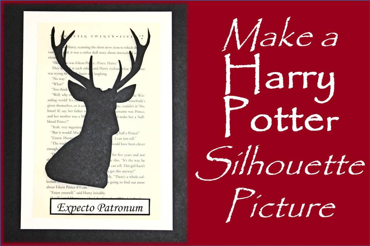 Learn how to create a simple Harry Potter silhouette picture using free, printable templates.
