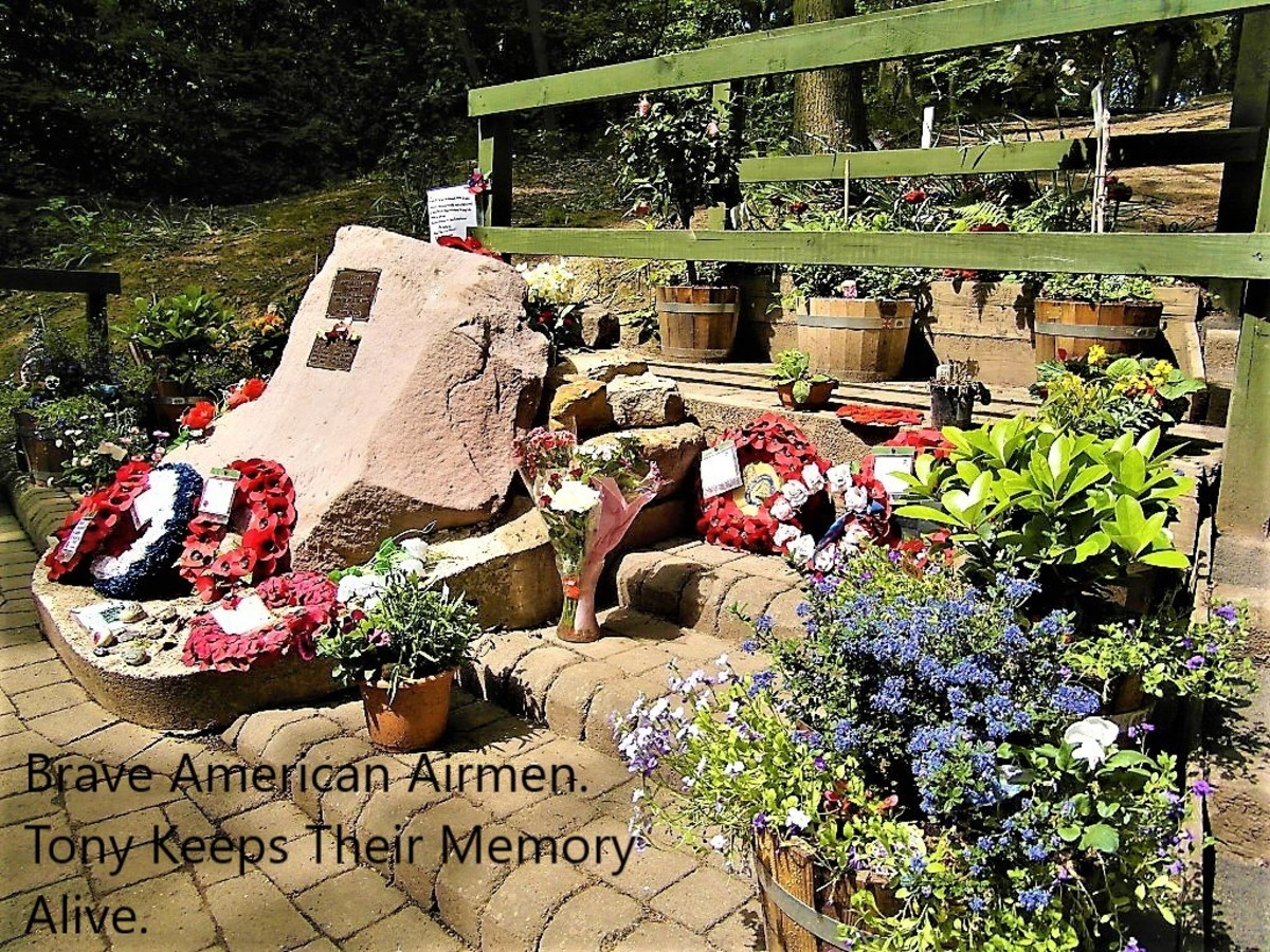The memorial to the 'Mi Amigo' air crew.