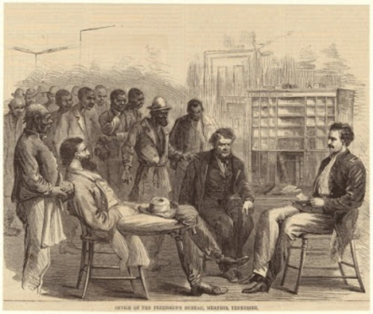 Office of the Freedmen's Bureau, Memphis, Tennessee. (1866) Harper's weekly : a journal of civilization. circa 1857-1916)