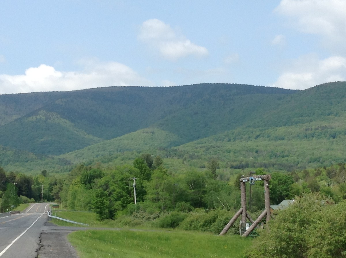 Hunter Mountain from Route 214
