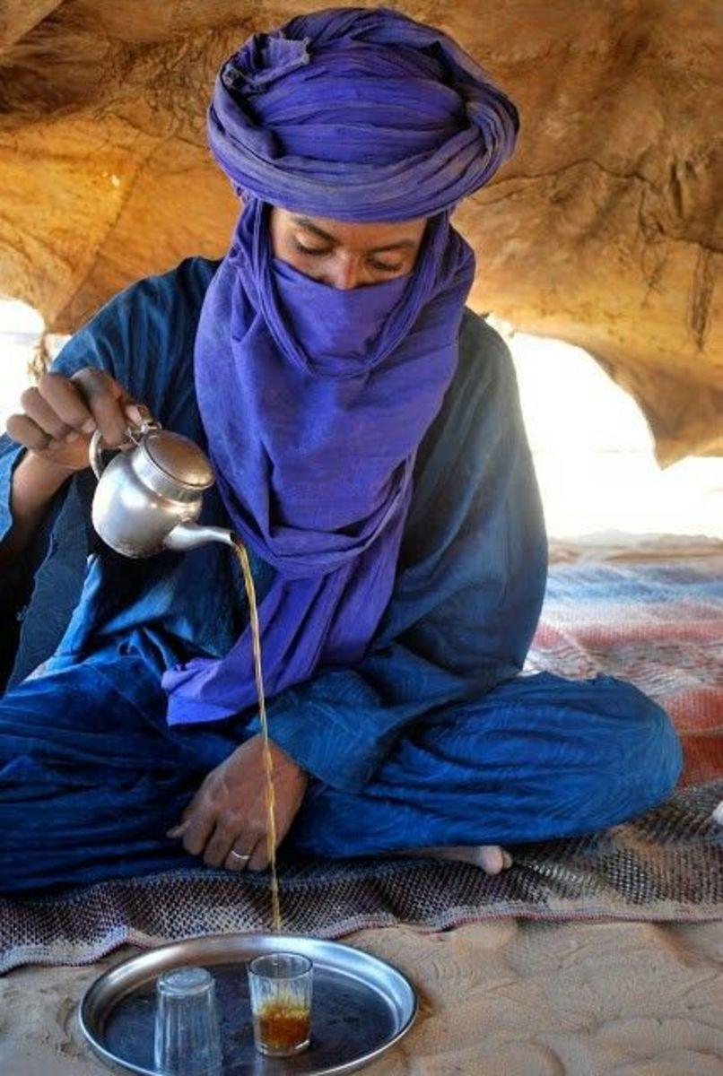 Tuareg man in Libyan Desert