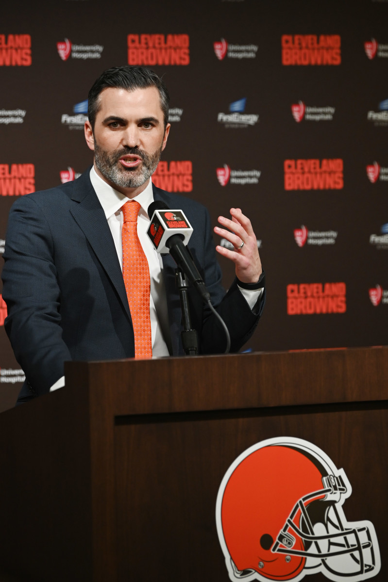 Kevin Stefanski is introduced as the 18th head coach in the history of the Cleveland Browns on January 14, 2020.