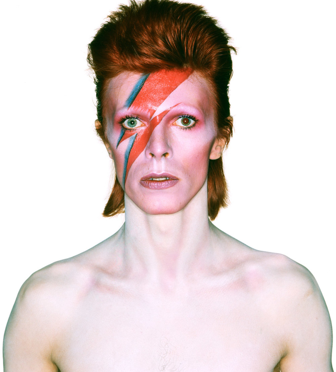 David Bowie in his Aladdin Sane era.