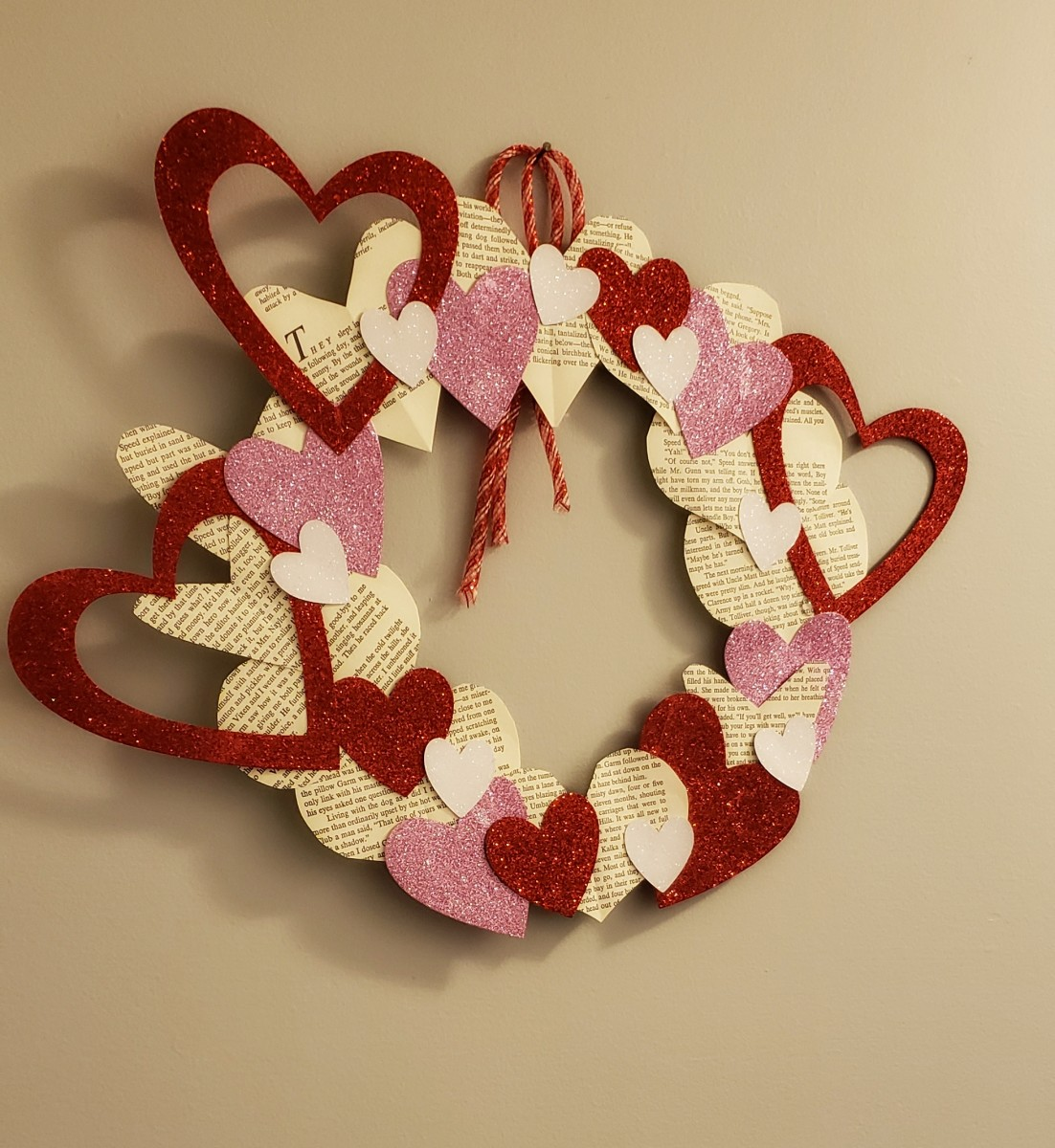 These three Valentine's Day wreaths can be made with craft supplies and just a few simple household items.