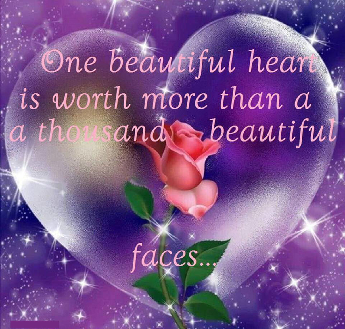 A  New Year's Heart of  Beauty. Monday's Inspiration 62. To a Special Friend Doris James Miz Bejabbers