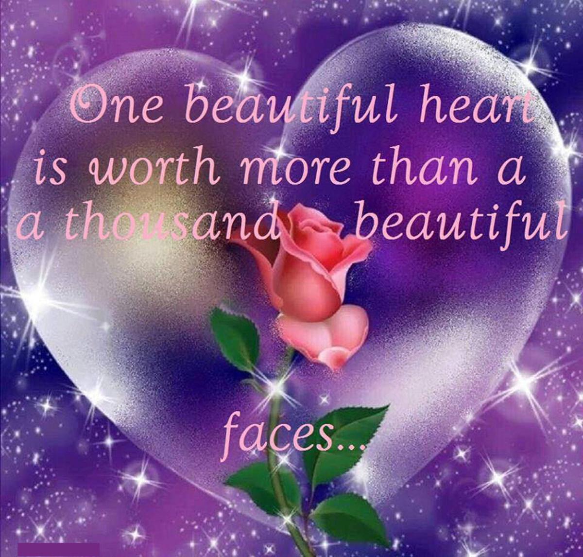 A  New Year's Heart of  Beauty. Monday's Inspiration 62. To a Special Friend Doris James Miz Bejabbers