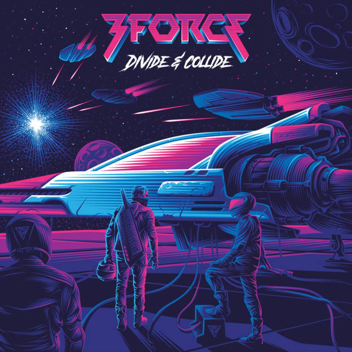 "Album cover art for 3Force's ""Divide & Collide"""