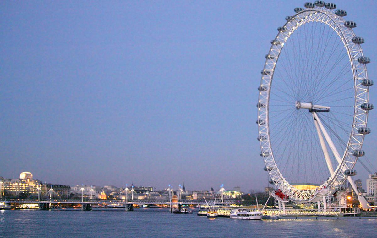 Golden Jubilee Bridge and London Eye