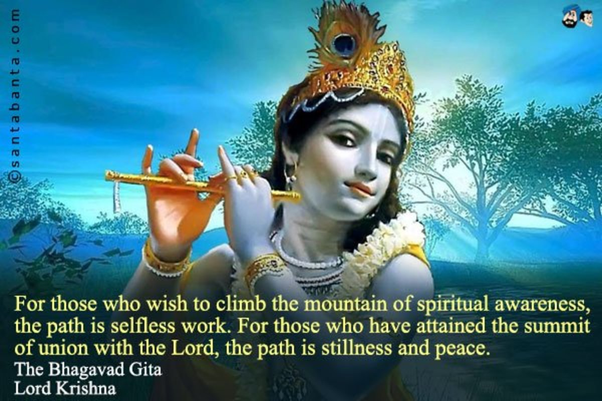 A Glimpse Into The Bhagavad Gita, (The Song Celestial)  Part 2 Saturday's Inspiration 23