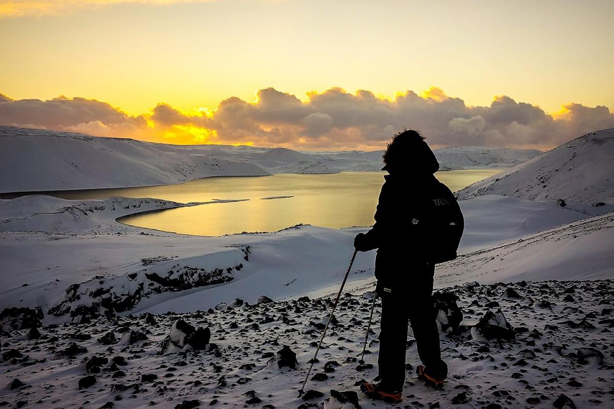 Winter solstice sunrise in Iceland