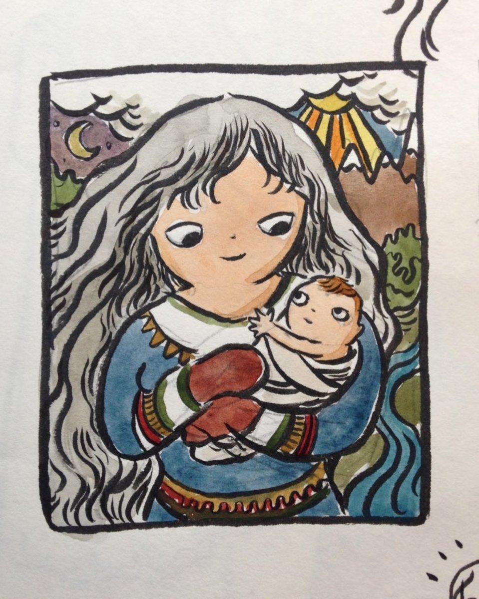 Madder-Akka Goddess and Protector of Babies
