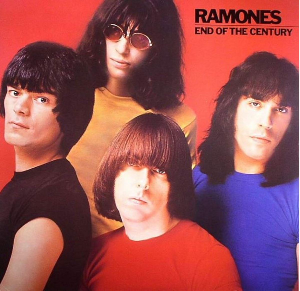 """Cover art for the Ramones' album, """"End of the Century."""""""