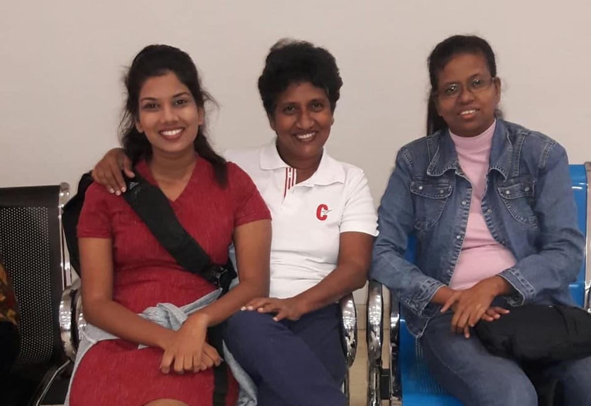 Inside the Sri Lankan airport