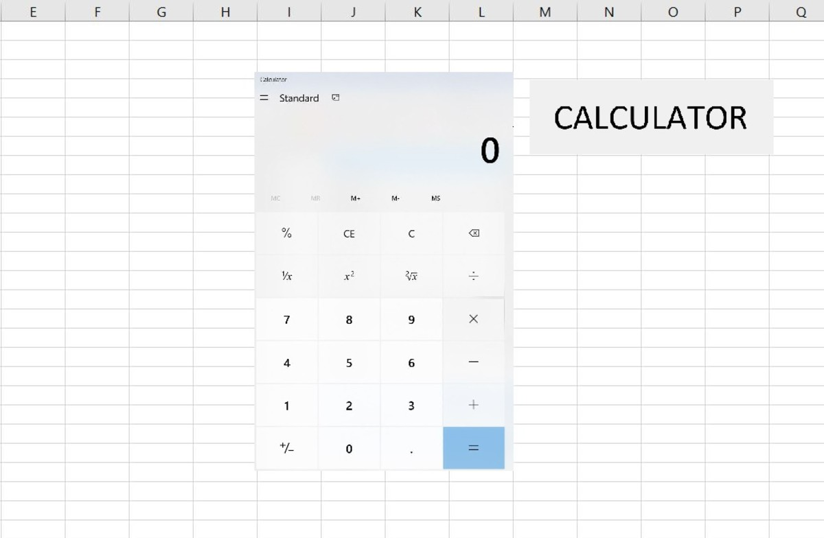 How to Create a Button in Microsoft Excel That Opens a Calculator