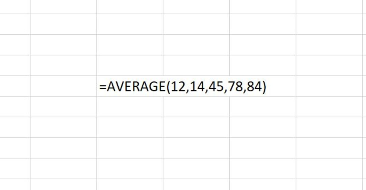 How to Use the AVERAGE Function in Excel