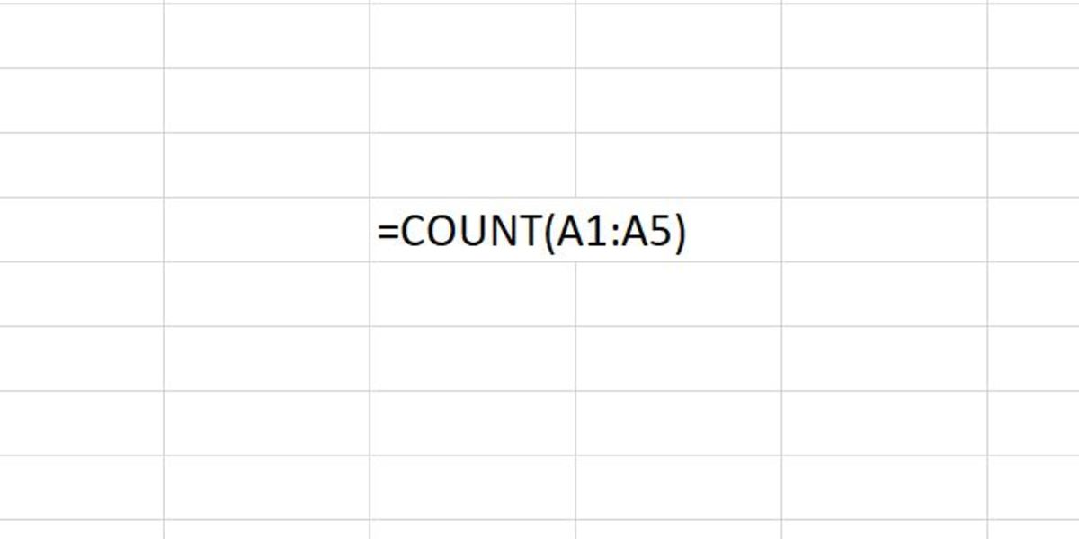 Here the Count function is set to count dates, text representations of numbers and numbers  within the stated range.